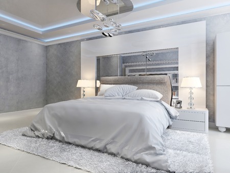 Luxury bedroom modern style, 3d picture