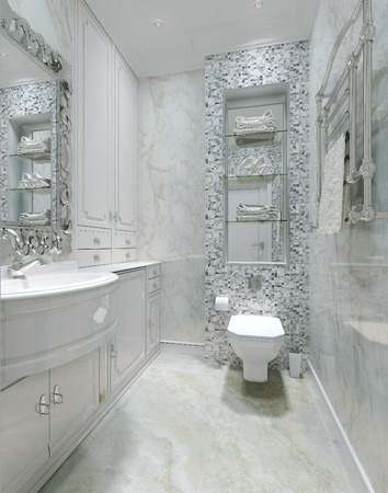classical style: Toilet classical style, 3d images