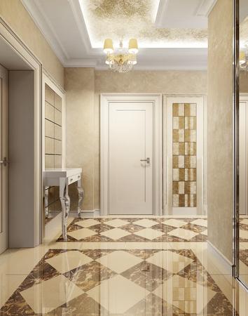 brown granite: Luxury lounge avant-garde style, 3d images