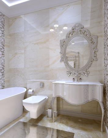 luxury bathroom: Luxury bathroom interior, 3d images