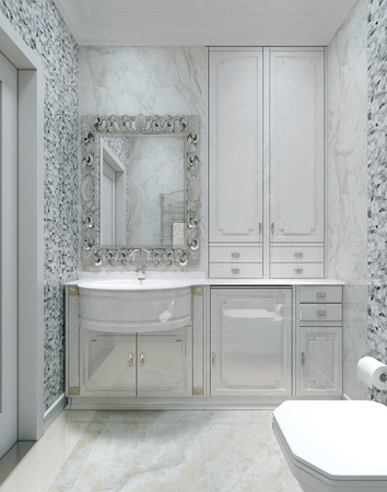 lacquered: Antique style bathroom, 3d images