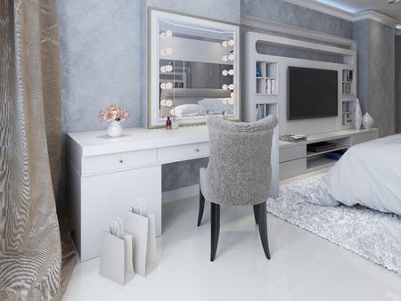 Modern dresser style Art Deco, 3d picture