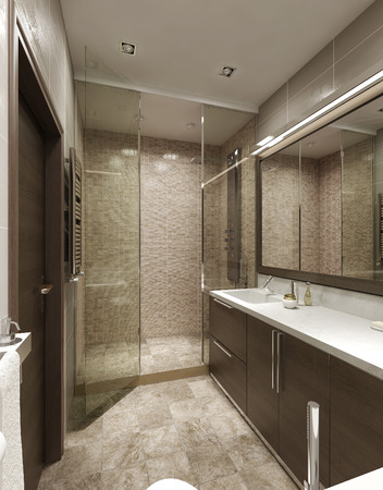 luxurious: Bathroom contemporary style. 3d images