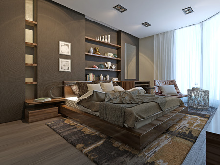 寝室の前衛的なスタイル、3 d モデル