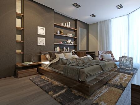 chambre à coucher: Chambre style avant-gardiste, modèle 3d
