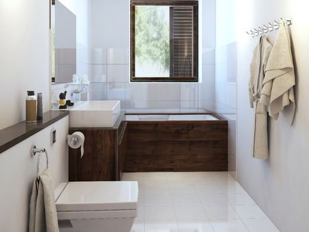 Bathroom rustic. 3d images