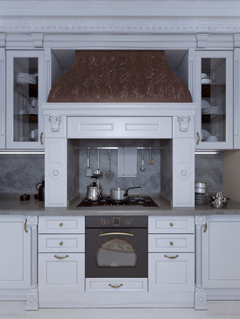 gloss: Kitchen in classical style, 3d images