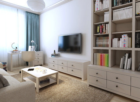 living room wall: Kids Room fyuzhin style, 3d images