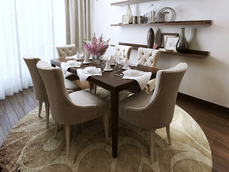 Dining classical style, 3d images