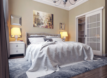 classical style: Bedroom classical style. 3d images