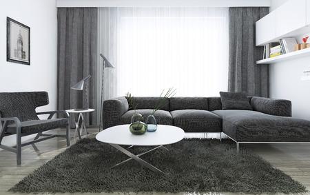 Salon moderne inter, images 3d Banque d'images - 47512811