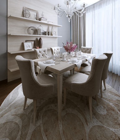 Dining neoclassical style, 3d images