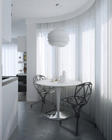 Dining room contemporary style, 3d images Stockfoto