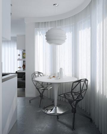 Esszimmer zeitgenössischen Stil, 3D-Bilder Standard-Bild - 47512800