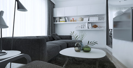 living style: Living room modern style, 3d images