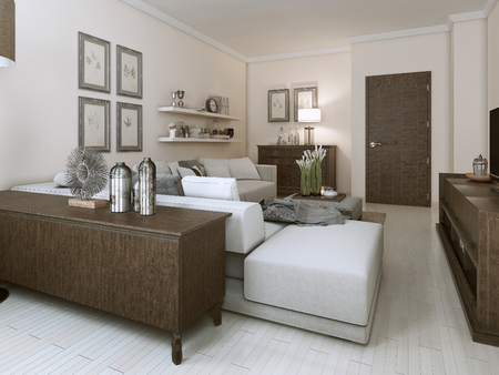 contemporary living room: Living room in Contemporary style. 3D images