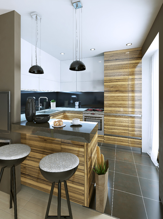 bar stool chair: kitchen in modern style, 3d images