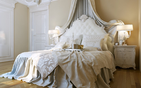 bedside lamps: Bedrooms Baroque style, 3d images
