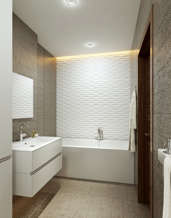 modern bathroom: Bathroom modern style, 3d images