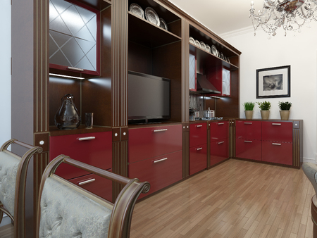 3d art: Kitchen in the Art Deco style, 3d images