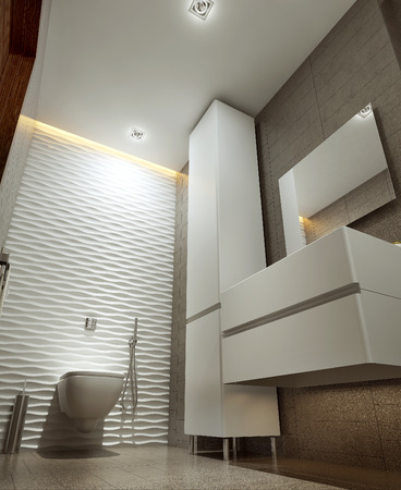 ware house: Bathroom modern style, 3d images