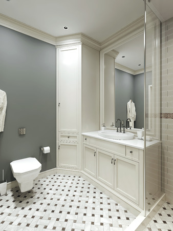 country style: bathroom country style, 3d images