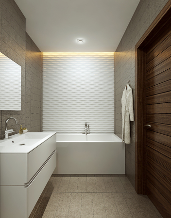 house ware: Bathroom modern style, 3d images
