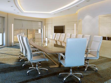 romana: Moderna sala de reuniones, imágenes 3d