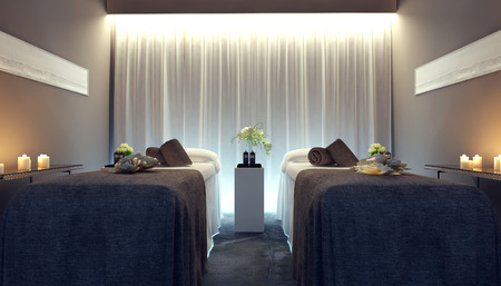 therapeutic massage: Interior spa, 3d images
