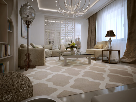 ligature: Living oriental style. 3d visualization