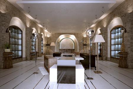 artdeco: Shop interior art-deco style. 3d images