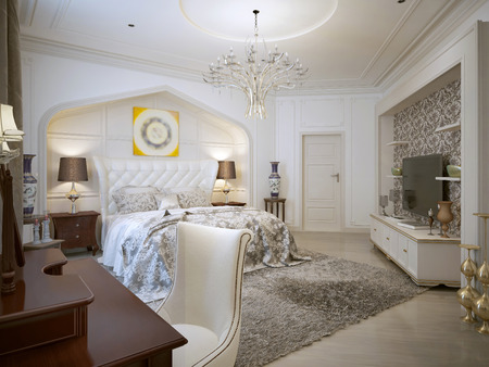 sconces: Bedroom design in Arabic style with bright colors. 3d visualization