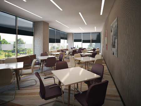 interior meeting room, 3d images Stock Photo