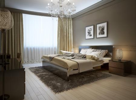cổ điển: liên phòng ngủ theo phong cách hiện đại, hình ảnh 3d