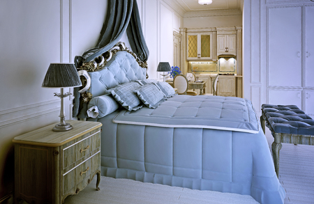 avant garde: Avant garde studio apartment trend. 3D render