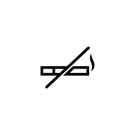 no smoking sign outline line icon.Vector illustration