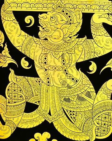 Indian god Ganesh in gold over black background Stock Photo - 10735512