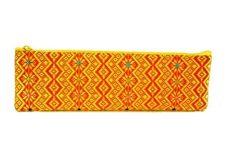 thai motifs: Thai bag on white