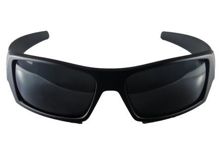 dark eyes: Black sunglasses isolated on white background