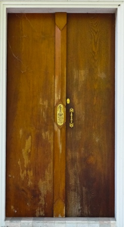 A historic wooden door  photo