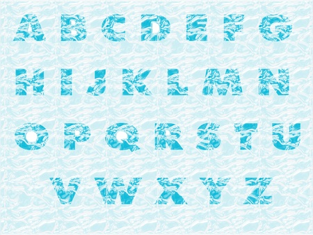Ice alphabet photo