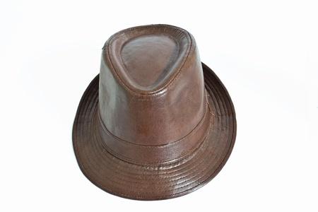 Leather bush hat isolated on white  Stock Photo - 12759473