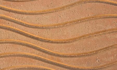 Beautiful pattern on the cement floor photo