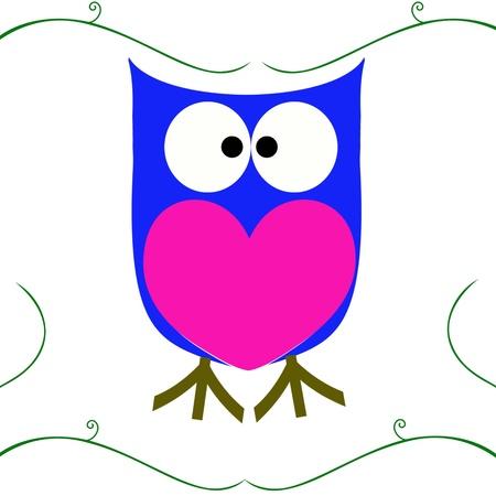 owl  Raster version Stock Photo - 13082536