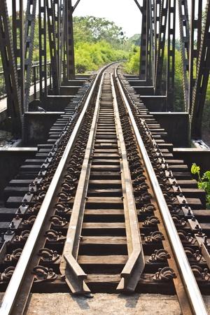 Railway bridge at Phichit,Thailand photo