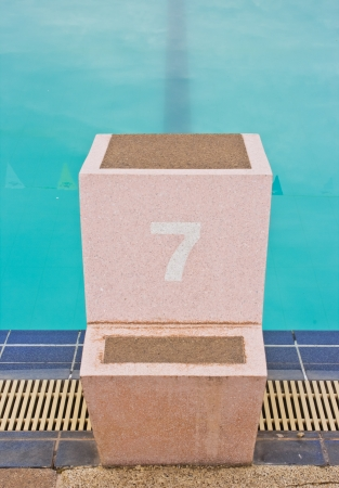 starting block and empty pool photo