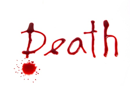 Death - bloody words photo