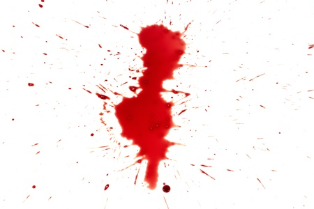 drop of blood isolated on white background Stock Photo - 15330420