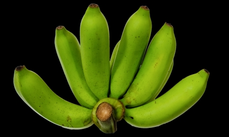 bunch of green bananas on background Stock Photo - 15565083