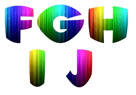 F-J colorful computer alphabet photo